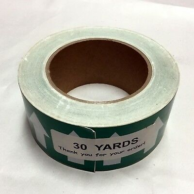 "Kolbi Pipe Banding & Directional Flow Tape 2"" X 30-yards Green w/ White Arrows"