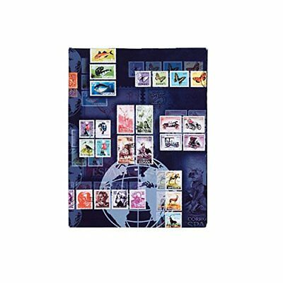 Pagna Postage Stamp Album A4 Motif Print Laminated 16 Pages Black Cardboard