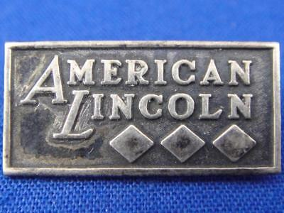 Vintage Sterling Silver AMERICAN LINCOLN Advertising Pin Pinback A414