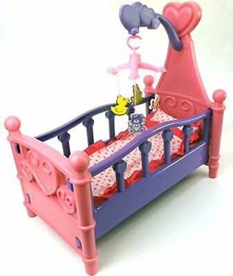 Brigamo 529Doll Bed with Mobile and Bedding