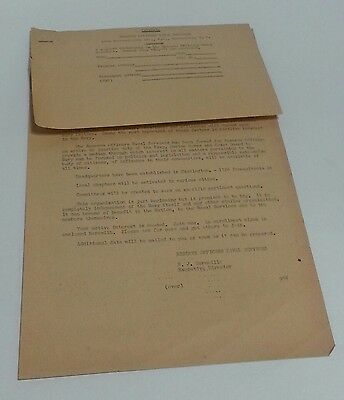 Navy Marine Corp, Coast Guard Reserve Officer Chapter Enrollment Form WWII ERA