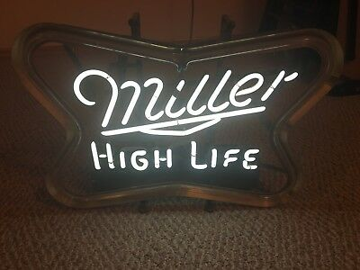 Vintage Miller High Life Beer neon sign .