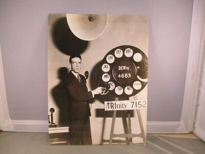 B&w Photo Lincoln Telephone & Telegraph Advertising Display Rotary Dial