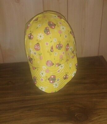 WELDING CAP MADE WITH BUTTERFLIES WITH LIGHT PURPLE BACKGROUND FABRIC