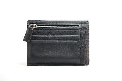 dd3ac35ed1 Prada Black Saffiano Leather Small Zip Pouch Card Case Holder Wallet  Authentic