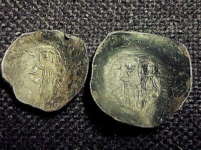 Lot of 2 Ancient Byzantine Trachy to Identify