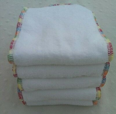 5 Pack Cloth Diaper Inserts, 3 Layer Microfiber, Rainbow Stitching Nappy Liner