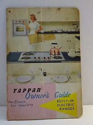 Tappan Owner's Guide Built-In Electric Ranges Booklet  ** FREE SHIPPING  **