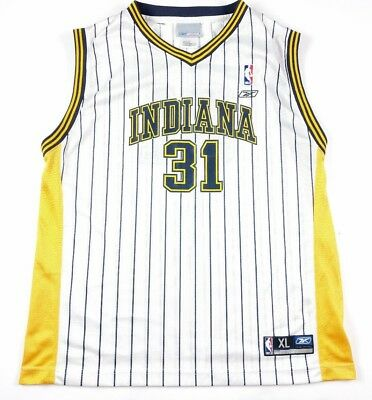 brand new 5a503 6c553 REEBOK YOUTH XL Reggie Miller Indiana Pacers Pinstripe Basketball Jersey  White