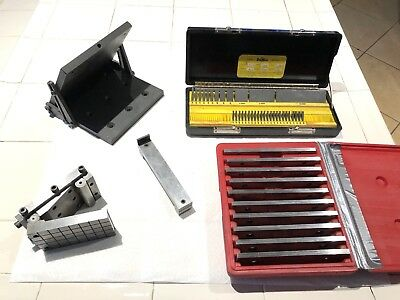 Machinist Tools, Sine Plate, Gage Blocks, Adjustable Angle Plate, Parallels