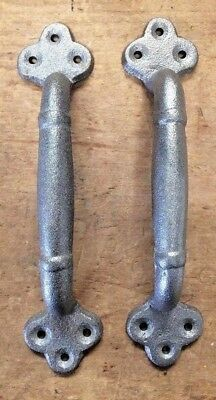 "Pair of 9"" Large Rustic Handles for Barn Door or Gate Pull from Antique Design"