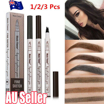 Eyebrow Tattoo Pen Waterproof Fork Tip Microblading Waterproof Makeup Sketch HF