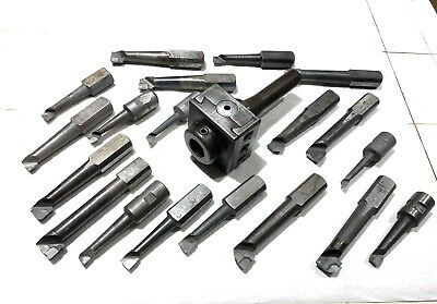 """CRITERION Boring Head With R8 Shank And 1.0"""" Boring Bars , Machinist Tools."""
