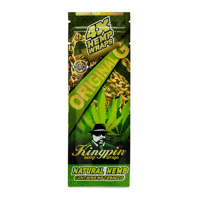 KINGPIN Hemp Blunt Wraps - Original G | Purple | Manic  - 4 Wraps Per Pack