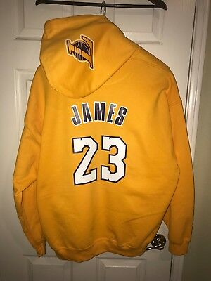 f0c6bb0a8 LA Los Angeles Lakers Lebron James Home Jersey Hoodie Hoody Hooded  Sweatshirt