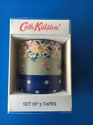 Cath Kidston Washi Tape, Masking Tape - Set Of 3 ~ New (post W/O Packaging)