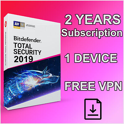 Bitdefender Total Security - 2 Years Activation 1 Device + Free VPN