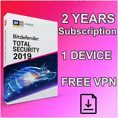 Bitdefender Total Security 2019 1 Device - 2 Years Activation Download