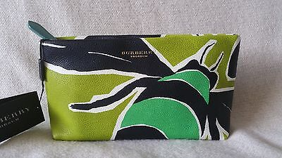 e15c5a6777ee NWT Burberry Prorsum Insect Bee Pebbled printed Leather Clutch Green Blue  Yellow