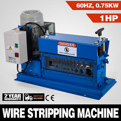 Portable Powered Electric Wire Stripping Machine 1HP Cable Stripper 9 Channels