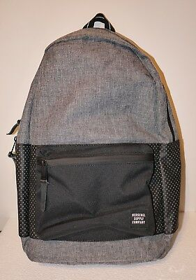 HERSCHEL SUPPLY CO SETTLEMENT ASPECT 23L BACKPACK BLACK GREY MSRP  60 NEW  w TAG ab017567719e7