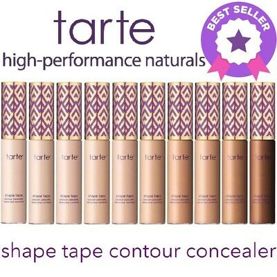 TARTE SHAPE TAPE CONTOUR CONCEALER COSMETICS HIGH COVERAGE 10ML - 5 Shades UK