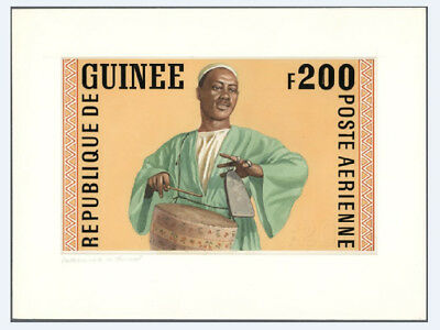 Guinea - Artist Drawing - Unadopted 200 Fr - Drummer - 255 X 160 Mm