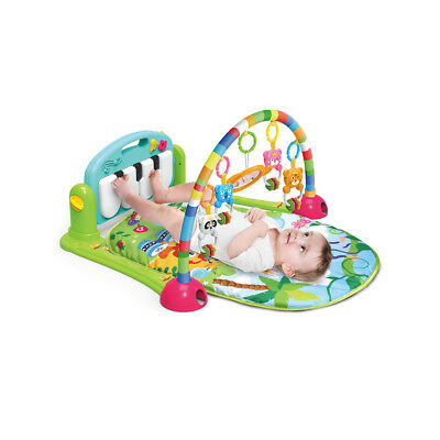 Baby Gym Play Safety Mat Lay and Play 3 in 1 Fitness Music Lights Fun Piano