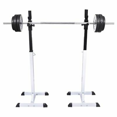 Squat Barbell Rack Set Weight Lifting Tool Fitness Workout Gym Training Exercise