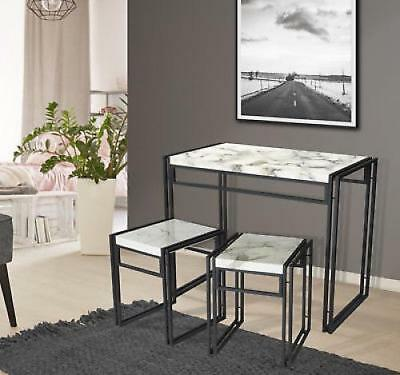 d0f006e1d 3 Piece Dining Set Table 2 Chairs Bistro Pub Home Kitchen Breakfast  Furniture