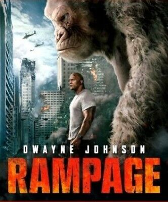 Rampage (DVD,2018) *DISC ONLY* NEW*Action, Adventure, S/Fiction* Now Shipping