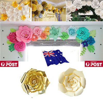 20 30cm Diy Paper Flower Leave Backdrop Decor Kid Birthday Party Wedding Favor D