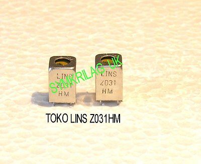TOKO LINSZ031HM 80~ 180 µH ADJUSTABLE COIL/CHOKE 7mm 2PIECE OFFER!
