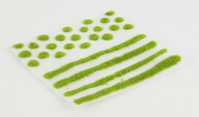 WWS 2mm Spring Self-Adhesive Static Grass Tufts/Strips Mix - Railroad Warhammer