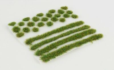 WWS 4mm Spring Self-Adhesive Static Grass Tufts/Strips Mix - Railroad Warhammer