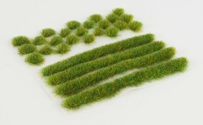 WWS 6mm Spring Self-Adhesive Static Grass Tufts/Strips Mix - Railroad Warhammer