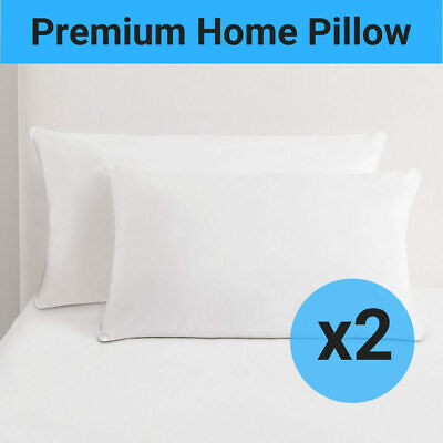 2 Pillows Hotel Premium Full Support Sleeping Memory Microfibre Cover Cotton NEW
