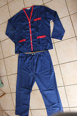 Antique pajamas up and down - Vintage - Blue - Man - Country - Taille 5