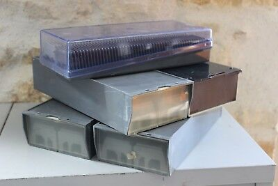 Pack  of 5 old boxes of slides - 100 x 5 - Drawers