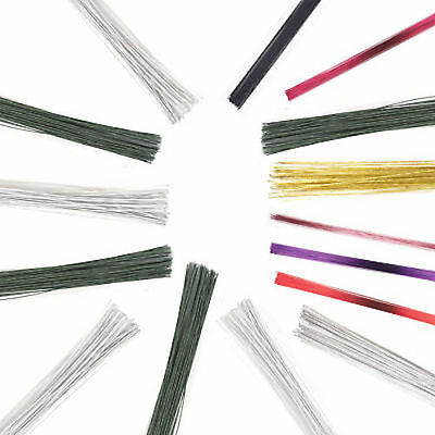 Culpitt Florist Wire- White, Green, Silver, Gold, Red, Black Pink Purple 18G-30G