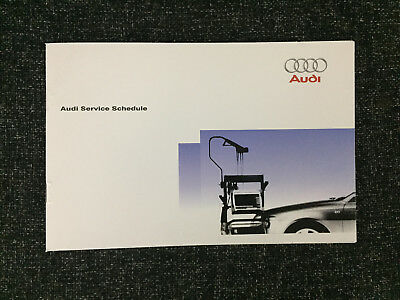 Audi Service Book Genuine Brand New For All Models Petrol And Diesel