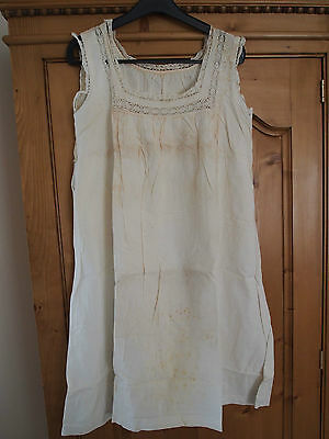 Antique babydoll Dress white - Embroidered - Handcrafted - Monograms N°8