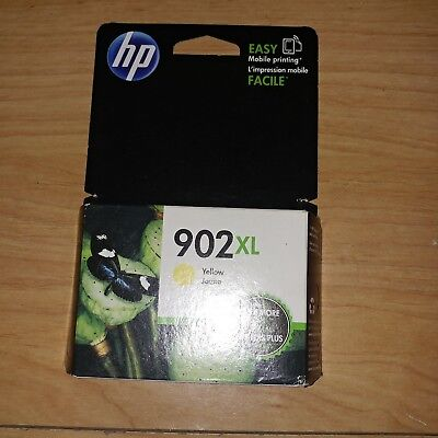 HP 902xl ink cartridges GENUINE LOT OF 1  YELLOW new in box