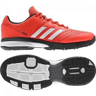 fbca2224f ADIDAS INDOOR COURT Stabil Red Shoes Trainers Adults - BY2839 ...