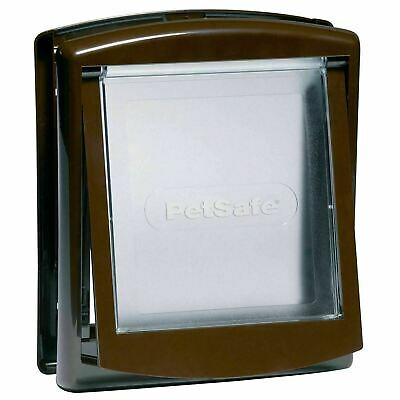 PetSafe Staywell 730EF Original Pet Door Small Dog/Cat Flap 2-Way Locking, Brown