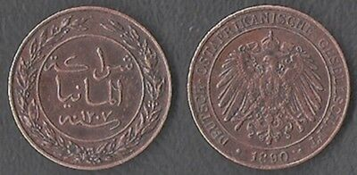 Münze Coin 1 Pesa Deutsch-Ostafrika 1890