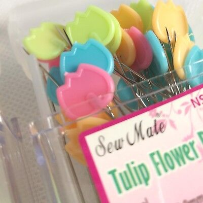 Sewing Pins Tulip Flower Shape in Stackable Container  (120pcs; 300pcs; 600pcs)