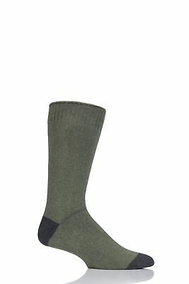 Mens 1 Pair Thought Walker Contrast Heel and Toe Bamboo and Organic Cotton Socks