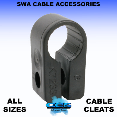 Swa Cable Clips Armoured Cable Single Fixing Cleats Wraparound (Per 100)