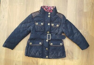 Next Girls Coat 3-4 years dark blue navy quilted Country Style  jacket